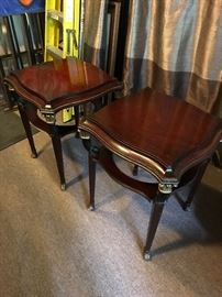 Pair of Mahogany and Parcel Gilt Side Tables