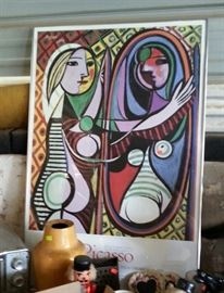 Picasso poster....not sure I understand this one....maybe this is how she sees herself in the mirror...or maybe I am just missing it altogether.