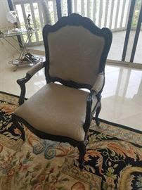 Pair of Arm Chairs Off White