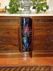 Center skinny cabinet