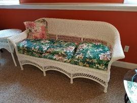 white wicker sofa