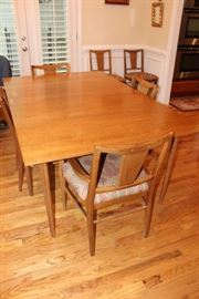 Funky mid century modern dining room table and chairs