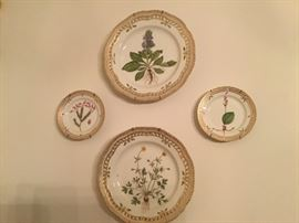 Royal Copenhagen - Flora Danica porcelain plates, 2 dinner plates SOLD, three bread and butter available