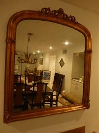 Gold wood  gesso overmantle mirror