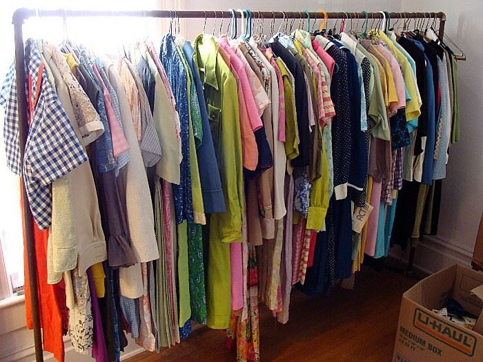 Huge selection of womens vintage clothing!