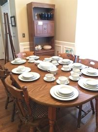 Table with 5 Chairs and Noritake China