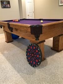 Pool table (Overland Billiard Co.)