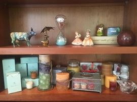 Hourglass, Candles, Chicago Cow, Collectibles