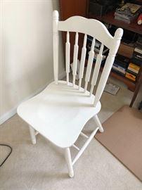 White wood chair