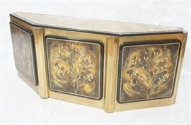 Lot 12 MASTERCRAFT by BERNARD ROHNE Brass Credenza Sideb