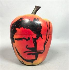 Lot 13 ROBERT LOUGHLIN Painted Brute on Plastic Apple Ic