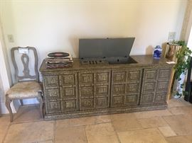 "Stereo Console with Reel to Reel ""The Fisher"""