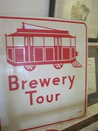 bus stop for brewery tour