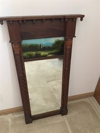 ANTIQUE REVERSE PAINTED MIRROR