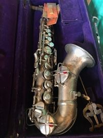 1940's silver saxophone made by Conn