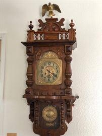 """Antique Gutav Becker """"Gloria"""" wall clock"""