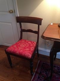 One of two parlor/miscellaneous chairs