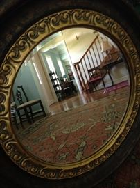 Lovely gold round mirror