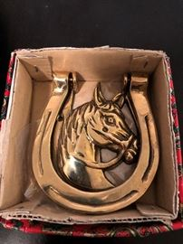 Brass Horse/Horse Shoe Door Knocker