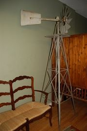 Vintage Windmill, approx. 9 Foot Tall