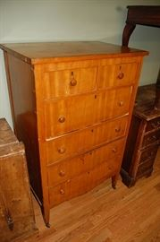 Antique Maple High Boy Chest of Drawers