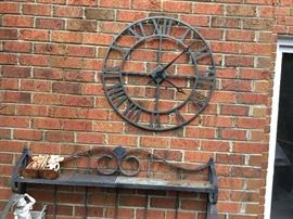 Wrought iron clock for your patio.
