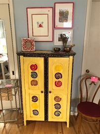 Cool painted cabinet