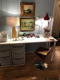 Elfa desk and lots of nice lamps