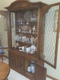 China cabinet with treasures.