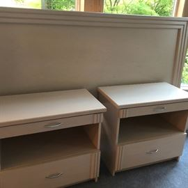 nightstands & headboard for large bed