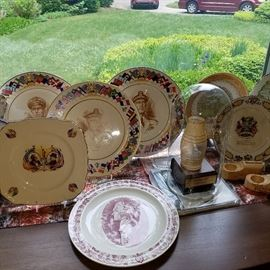 WWII Navy Admirals plates along with other commemoratives and calendar plates