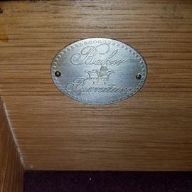 Label in Baker cabinet