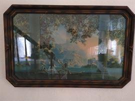 "Vintage Maxwell Parish framed print ""Daybreak"""