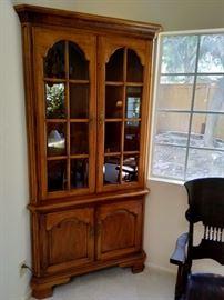 Thomasville corner hutch $295 (sale price Saturday is $148)