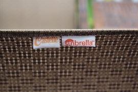 Oversized Patio Set: Castelle with Sunbrella fabric