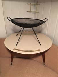 Vintage formica round coffee table