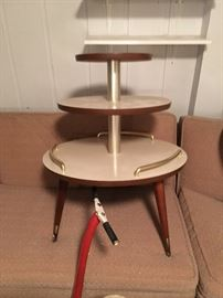 Mid Centurn Modern 3 tier accent table