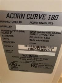 Acorn Curve 180 Stairlift - installed 2016