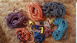 Rock climbing ropes & accessories