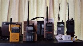 Lots of handheld radios - a variety!