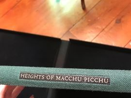 LEC: Heights of Macchu Picchu tanslated by John Felstiner, Photogravures by Edward Ranney