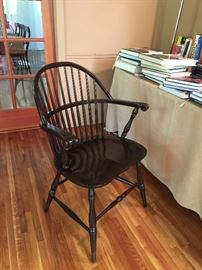 Two windsor chairs.