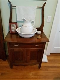One of several antique wash stands