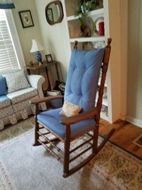 One of many rocking chairs