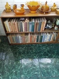 Depression glass Vintage books