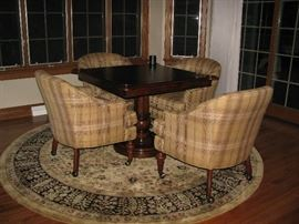 Hekman chairs and game table (Howard Miller company)