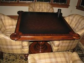 Game table with 4 upholstered chairs