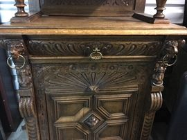 Lower Part of a beautiful antique Flemish Hutch