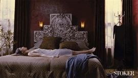 This is the headboard from the movie Stoker that Therese worked on.  We will be selling this at this sale.