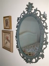 Painted mirror and art
